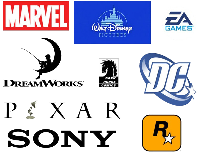 Contributing artists from Marvel, Pixar, Disney, Dream Works and many more.
